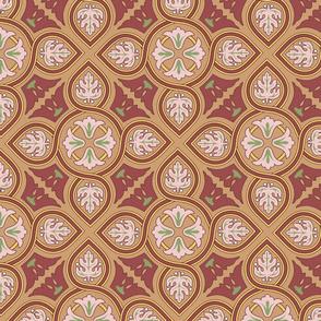 classic tile, diagonal, tan