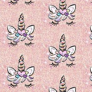 Unicorn blush glitter