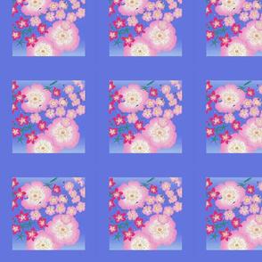 Roses in the Stars for Spoonflower