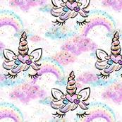 unicorn n clouds glitter confetti sparkles