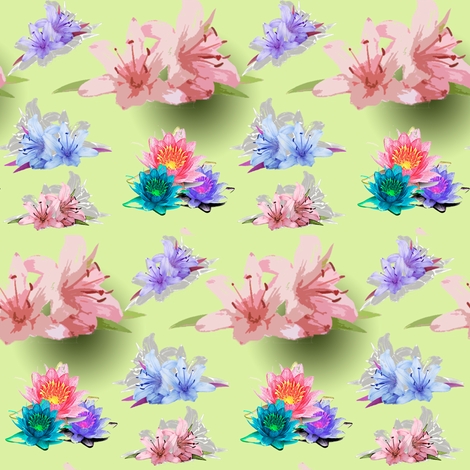 floral fabric by raya_aldhaheri on Spoonflower - custom fabric