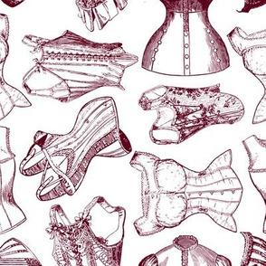 corsets maroon