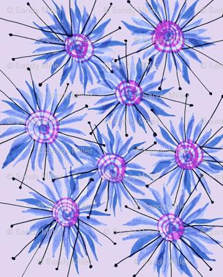 Pinned floral stripe