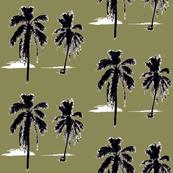 Palm Trees on Khaki