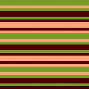 BNS7 -  Marbled Mystery Crosswise Stripe in green - brown -pastel peach