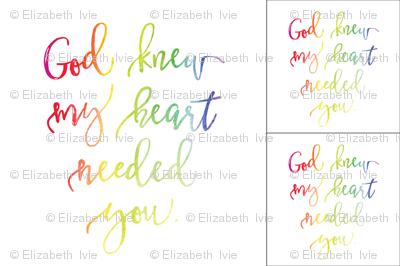 1 blanket + 2 loveys: god knew my heart needed you rainbow baby