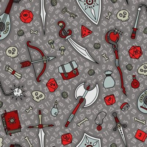 RPG Quest Large in Silver & Red