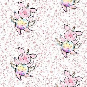 Unicorn piggies n pink diamonds pigs