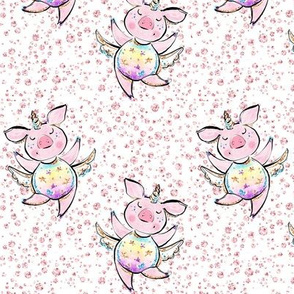 Unicorn piglets diamonds 2 pigs