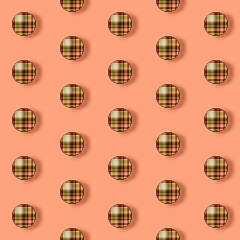 BNS7 - Small  Plaid  Polkadots on Peach fabric by maryyx on Spoonflower - custom fabric