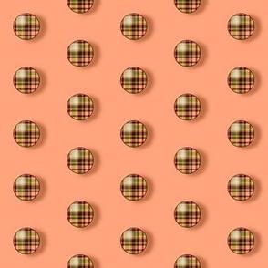BNS7 - Small  Plaid  Polkadots on Peach