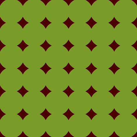 BNS7 -Polkadot Solidarity - Avocado Green and Rust - Small fabric by maryyx on Spoonflower - custom fabric