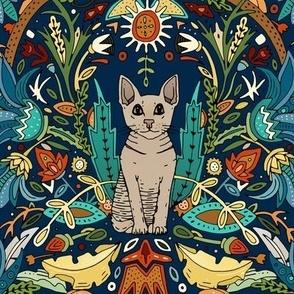 Peterbald cat damask midnight
