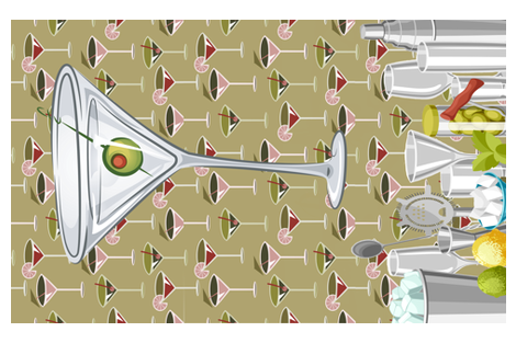 Shaken Not Stirred fabric by fabric_is_my_name on Spoonflower - custom fabric