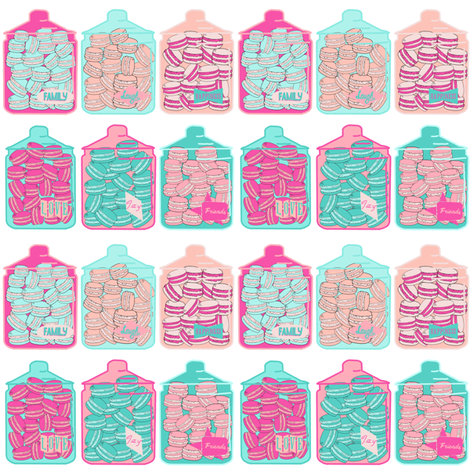 Sweet life - macaroon fabric by jjdesignwithlove on Spoonflower - custom fabric