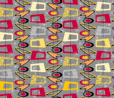Nifty Fifties fabric by jjtrends on Spoonflower - custom fabric