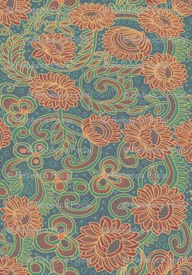 new battenberg repeat; Japonica colorway