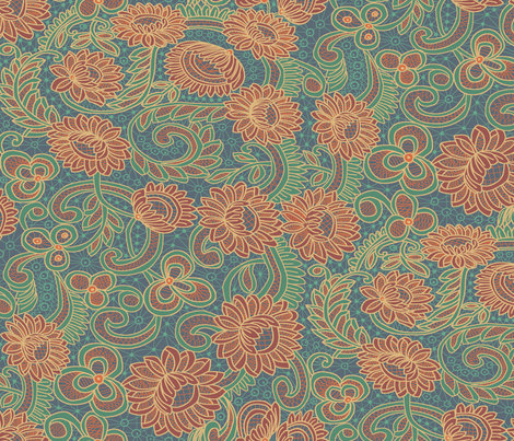 new battenberg repeat; Japonica colorway fabric by muddyfoot on Spoonflower - custom fabric