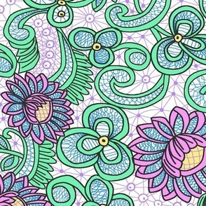 New Battenberg Repeat; Unicorn  Colors colorway