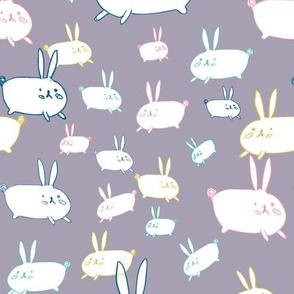 bunnies grey bg