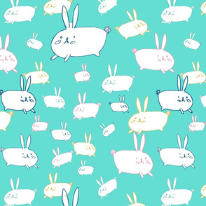 bunnies green bg
