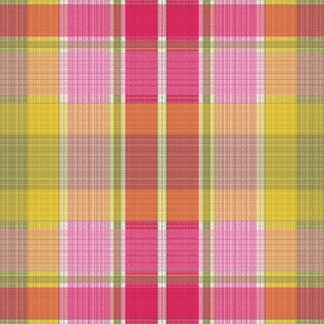 1950s Ribbed Plaid fabric by anniedeb on Spoonflower - custom fabric