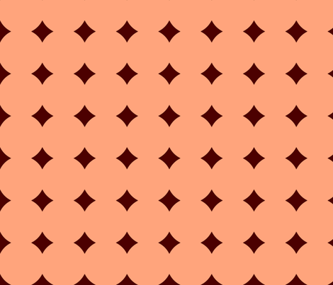 BNS7 - Large Polkadot Solidarity in Pastel Peach and Rust fabric by maryyx on Spoonflower - custom fabric