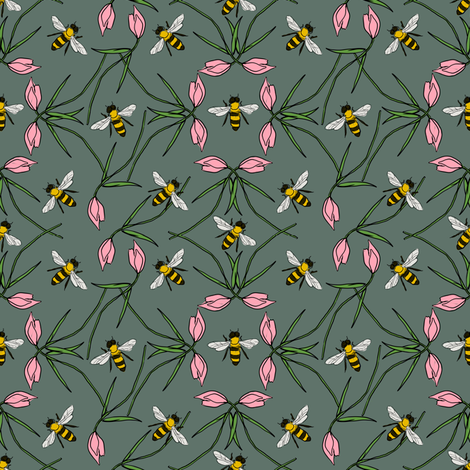 Sweet Beehavior fabric by denysemitterhofer on Spoonflower - custom fabric