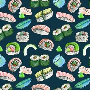 Dancing Sushi Teal