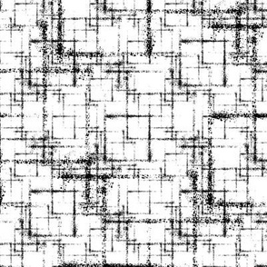 Squares squared black on white abstract geometric