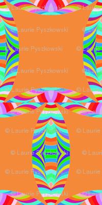 Tribal Pattern Square Like on Orange Background