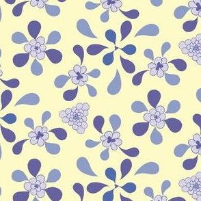 Violet Floral Kaleidoscope 1