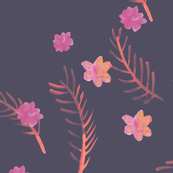 Mystic Co-ordinate - Floral - Purple
