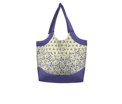 Violet Floral Kaleidoscope - Coordinating Solid 2