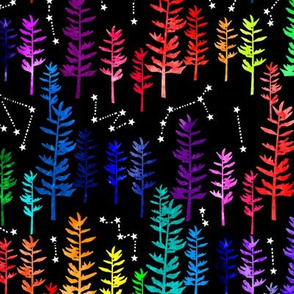 Starry Rainbow Forest