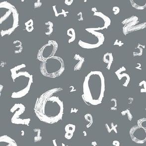 Numbers-grey