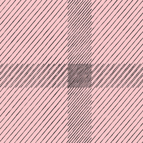 distress plaid millennial pink black