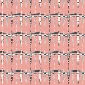 Mid Century Diamonds, Blush Pink