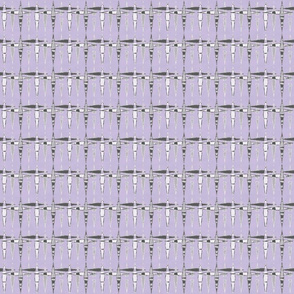 Mid Century Diamonds, violet, small
