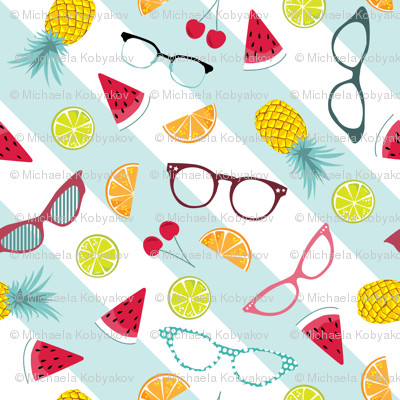1950s glasses and tropical punch