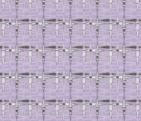Mid Century Double Diamonds, Violet fabric by palifino on Spoonflower - custom fabric