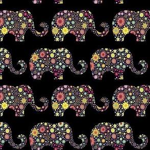 Floral elephants