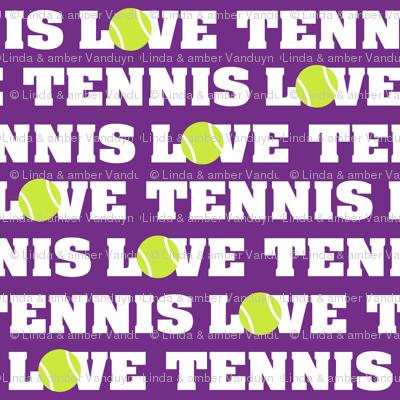 Love Tennis on Purple