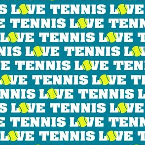 Love Tennis on Teal