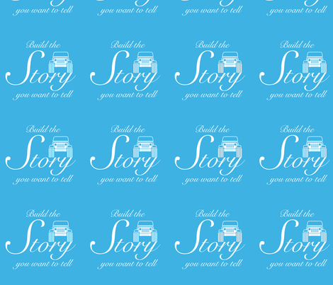Build Story - Royal Blue fabric by unique_sapphire on Spoonflower - custom fabric