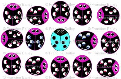 Ladybug Odd Ball - Purple & Aqua