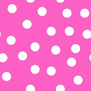 """1.5"""" polka dot scatter - pink"""
