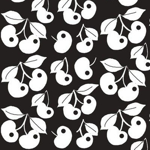 My Cherry Delight / white cherries on black