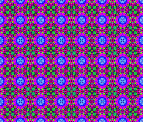 Rich Purple Lotus Blocks fabric by just_meewowy_design on Spoonflower - custom fabric