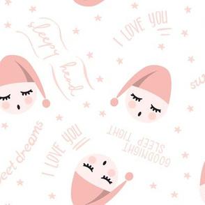 sleepy head - pink